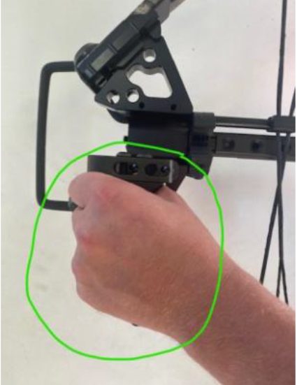 Correct way to hold the bow